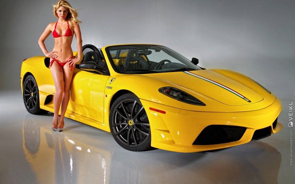 Ferrari F430 Girls Cars Wallpaper Veikl