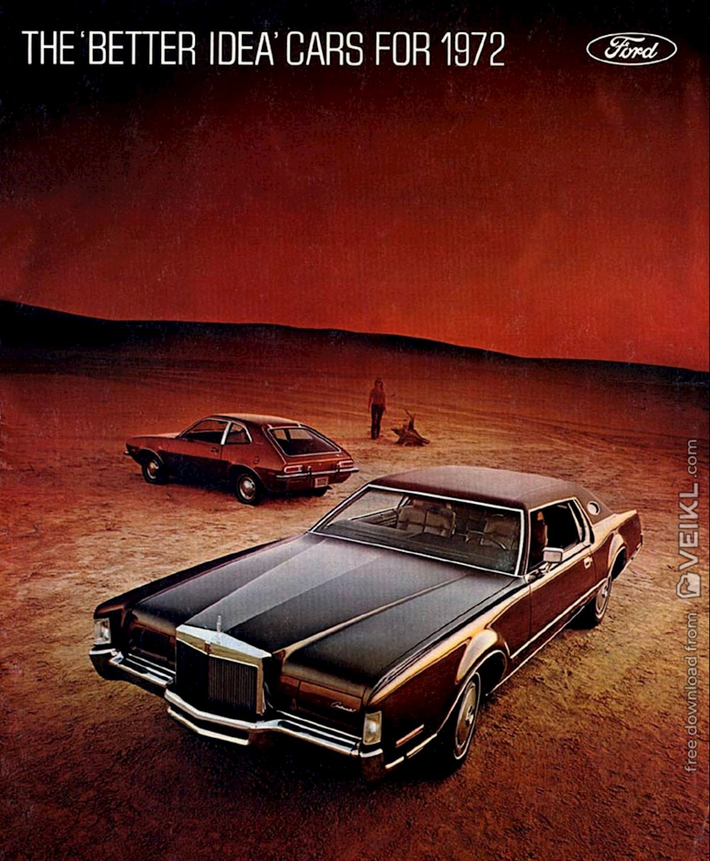 Ford / Mercury / Lincoln Full Line Brochure 1972 EN