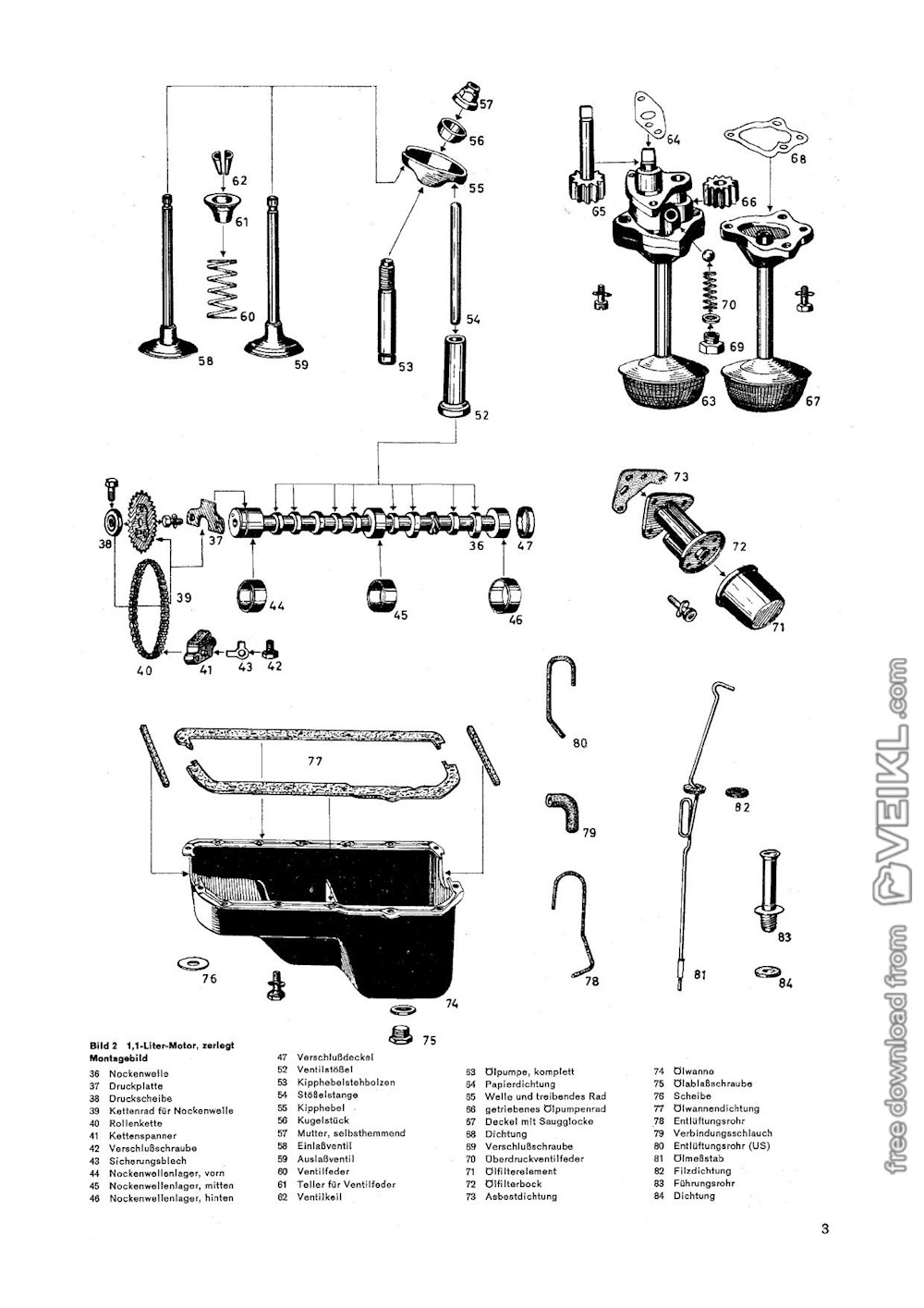 Opel GT / Kadett B / Olympia Engine Workshop Manual 1973