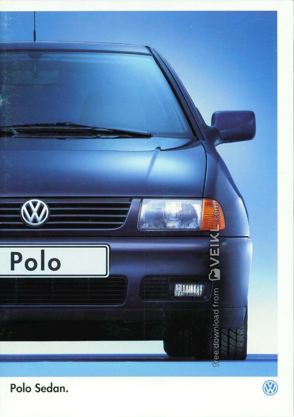 Volkswagen Polo Sedan Brochure 1998 Nl Veikl