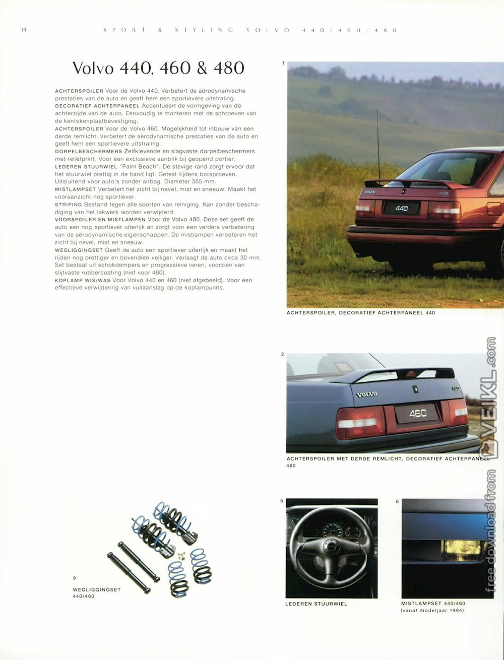 Volvo Full Range Accessories Brochure 1996 NL