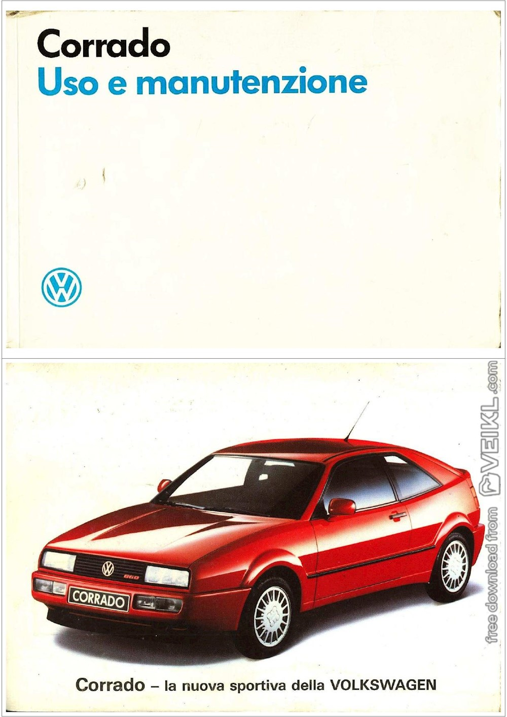 Volkswagen Corrado Owner's manual 1989 IT - Veikl