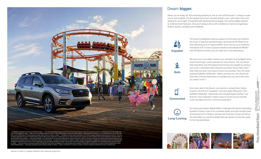 Subaru Ascent Brochure US 2019 EN