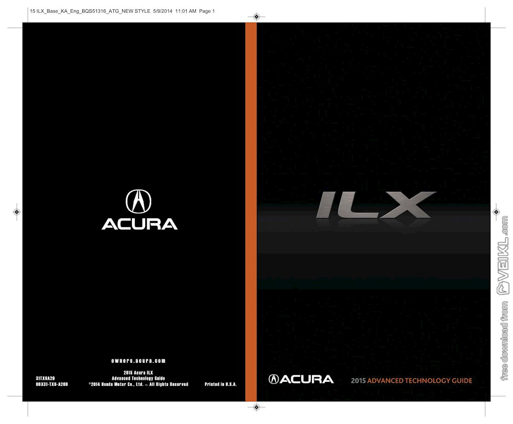 Acura ILX Advanced Technology Guide 2015 EN