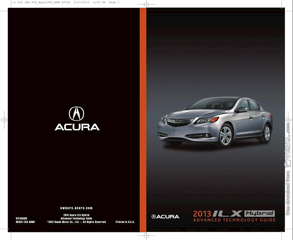 Acura ILX Hybrid Advanced Technology Guide 2013 EN