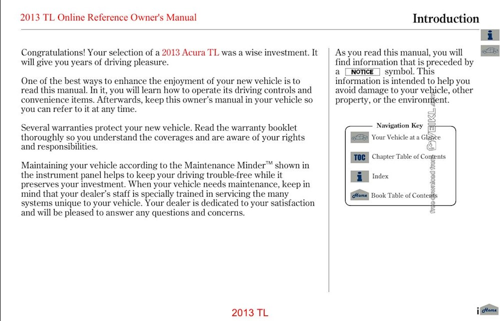 Acura TL Owner's manual 2013 EN