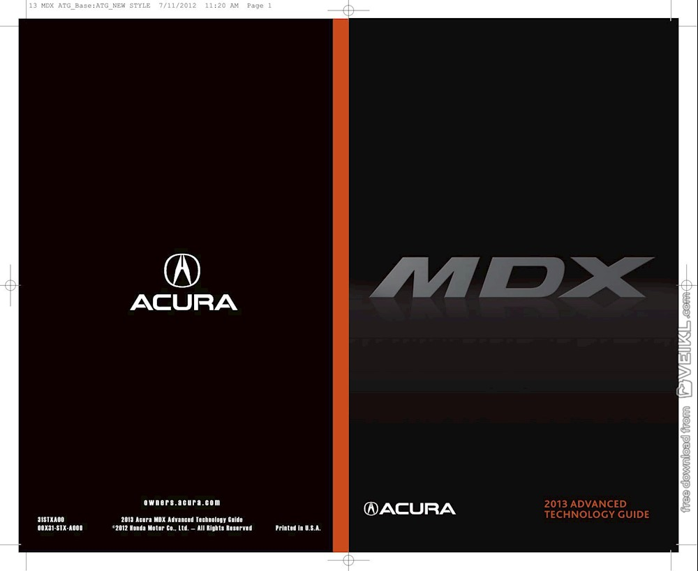 Acura MDX Advanced Technology Guide 2013 EN