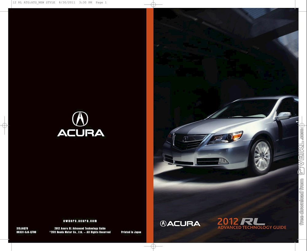 Acura RL Advanced Technology Guide 2012 EN