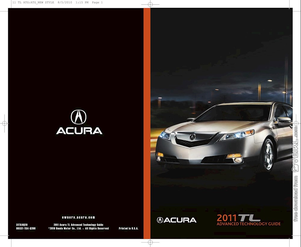 Acura TL Advanced Technology Guide 2011 EN