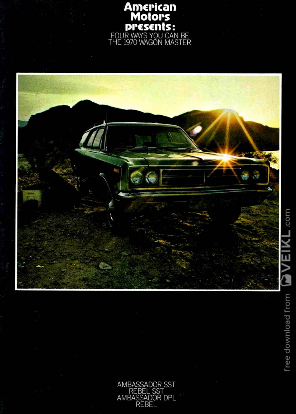 AMC Ambassador Wagon / Rebel Wagon Brochure 1970 EN