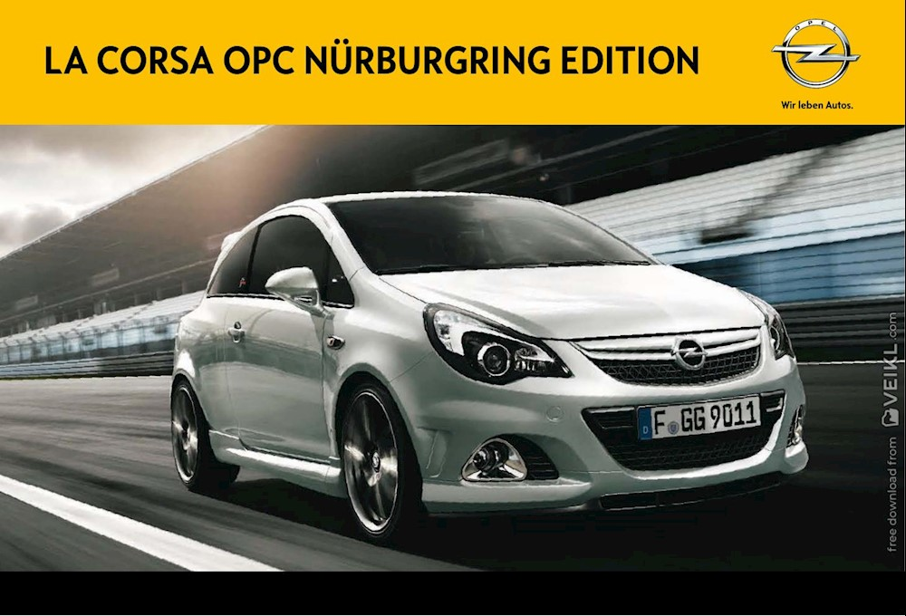 Opel Corsa OPC Nürburgring Edition CH Brochure 2014 FR