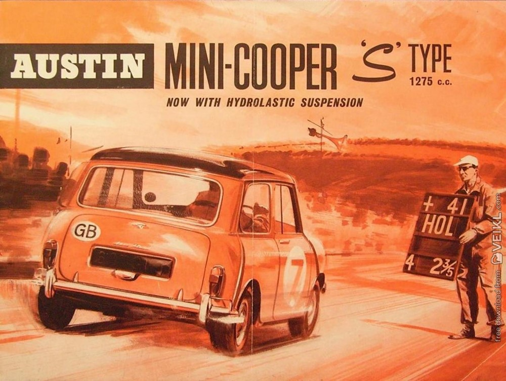 Austin Mini Cooper S Type hydrolastic suspension Brochure 1964 EN