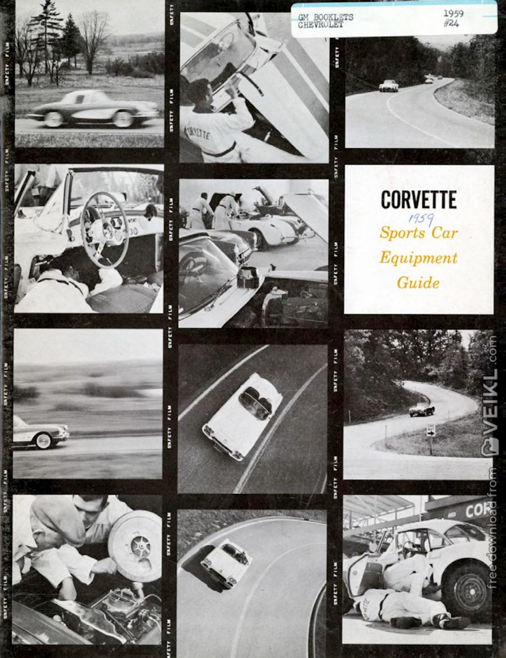 Chevrolet Corvette Rquipment Guide Brochure 1959 EN