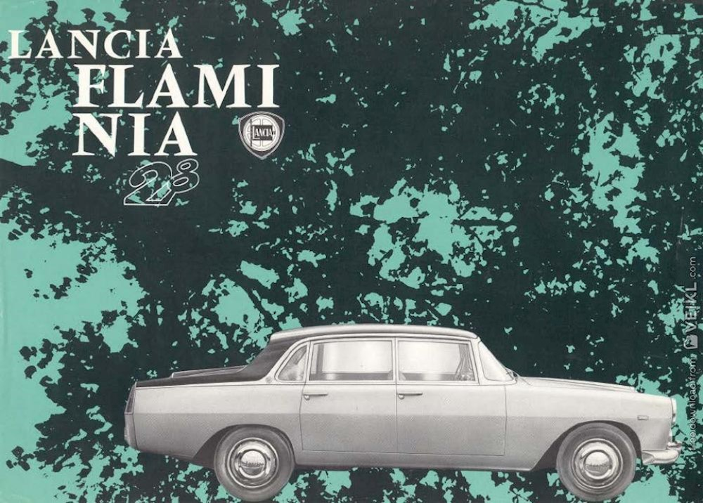Lancia Flaminia Berlina Brochure 1963 DE EN FR IT