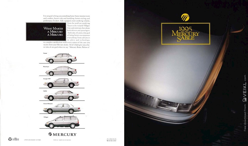 Mercury Sable Brochure 1995 EN