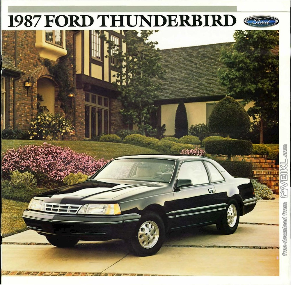 Ford Thunderbird Brochure 1987 EN