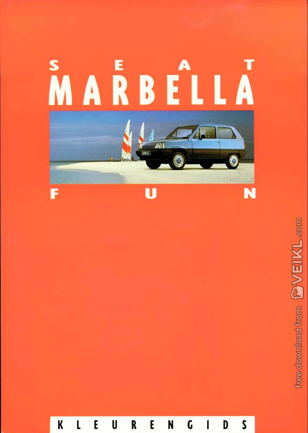 Seat Marbella Colours and Upholstery Brochure 1994 NL