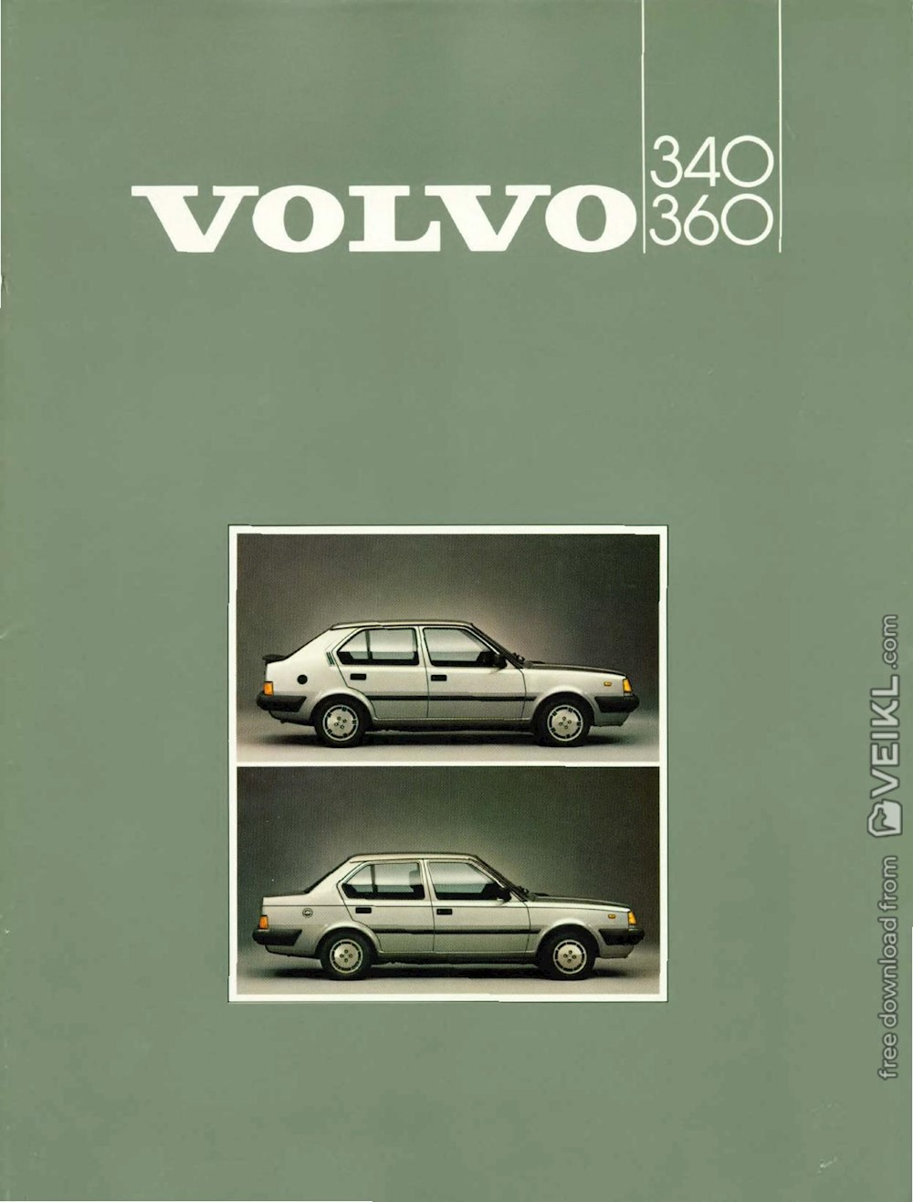 Volvo 340 and 360 Brochure 1985 NL