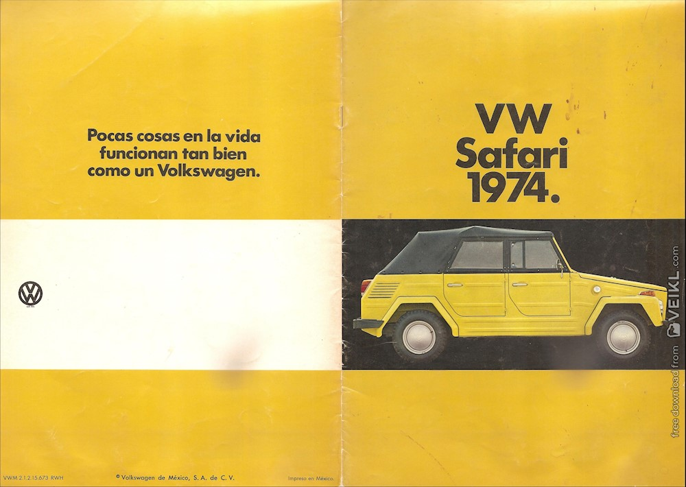 Volkswagen Thing Brochure Mexico 1974 ES