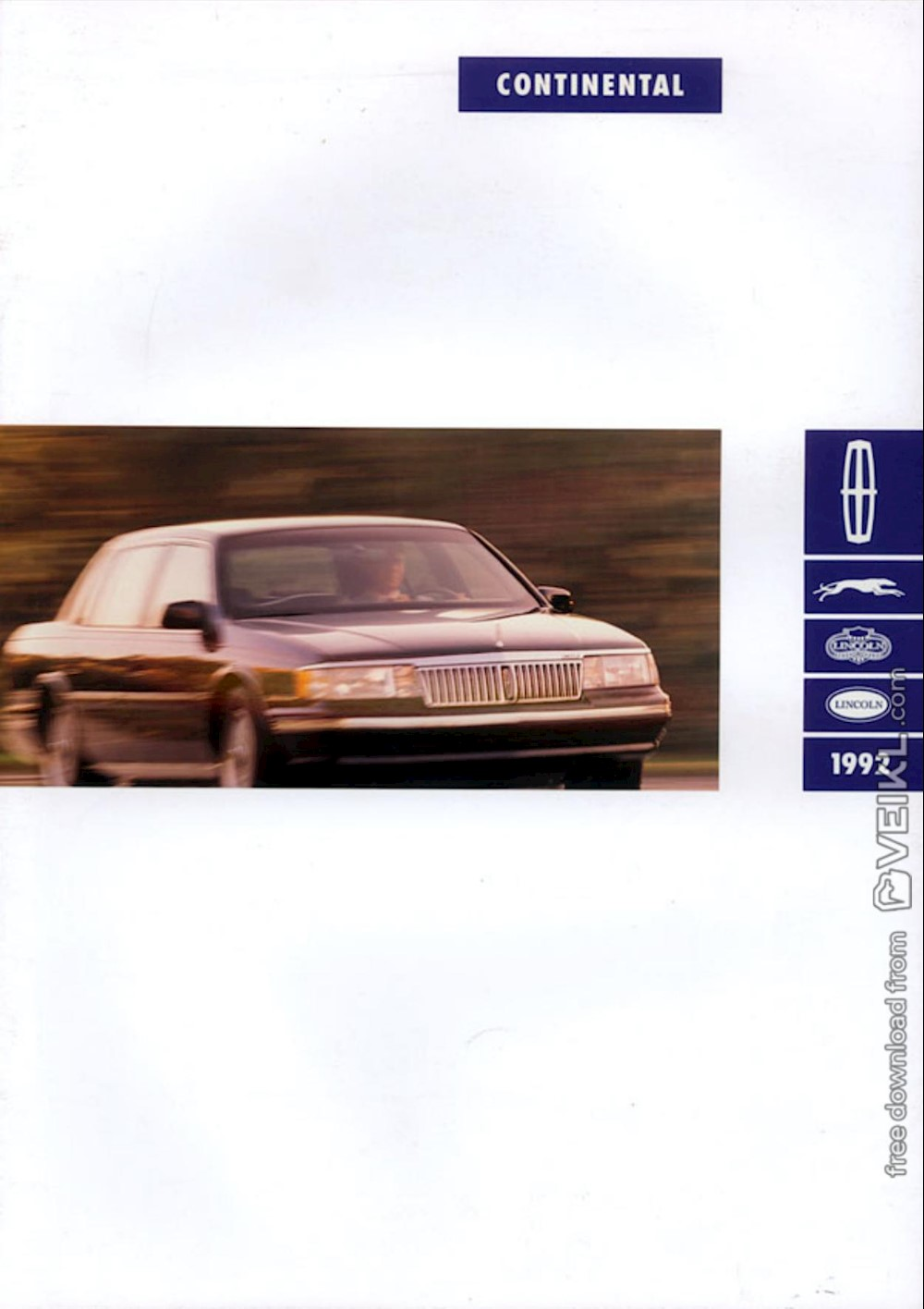 Lincoln Continental Brochure 1992 EN