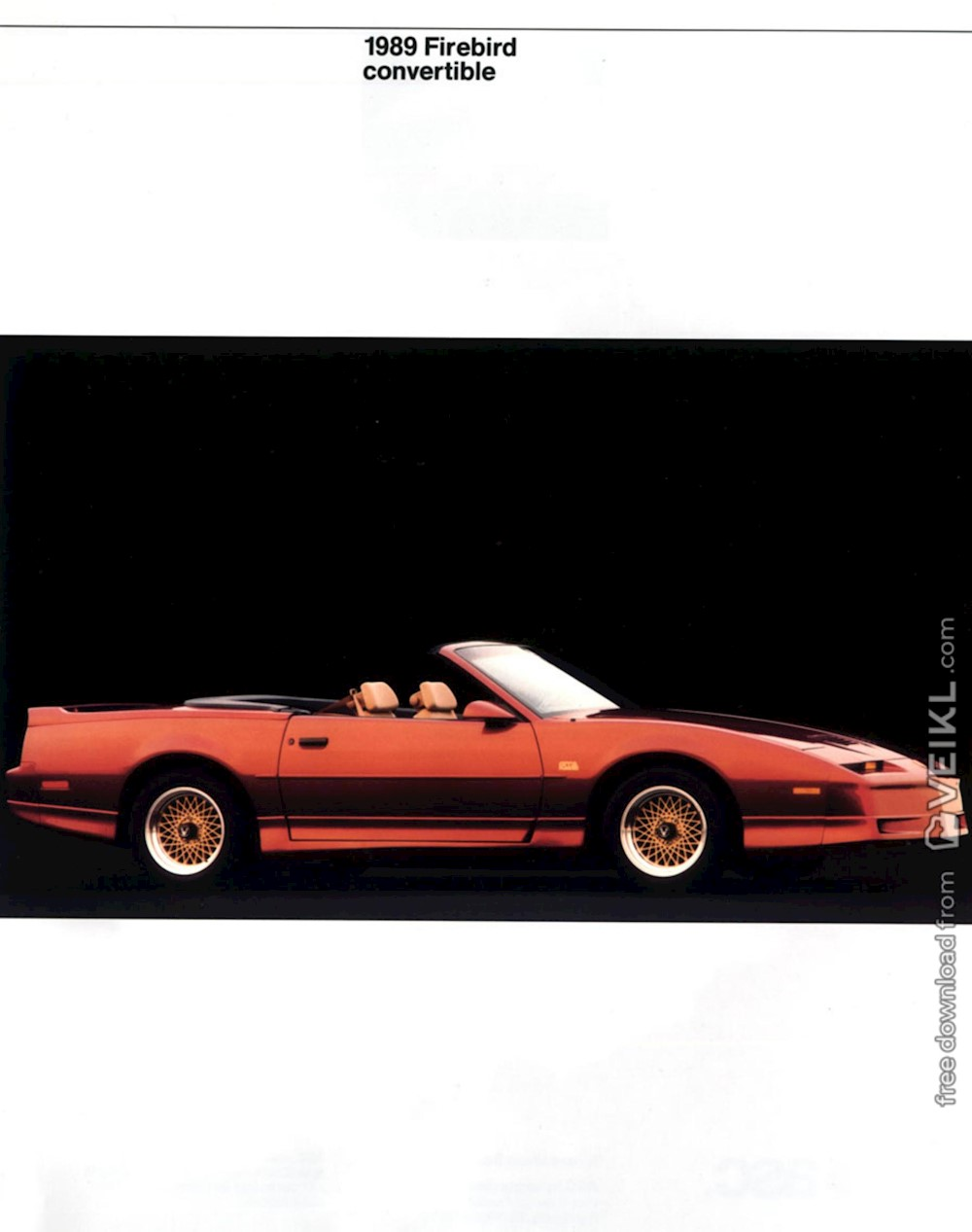 Pontiac Firebird Covertible by ASC Brochure 1989 EN