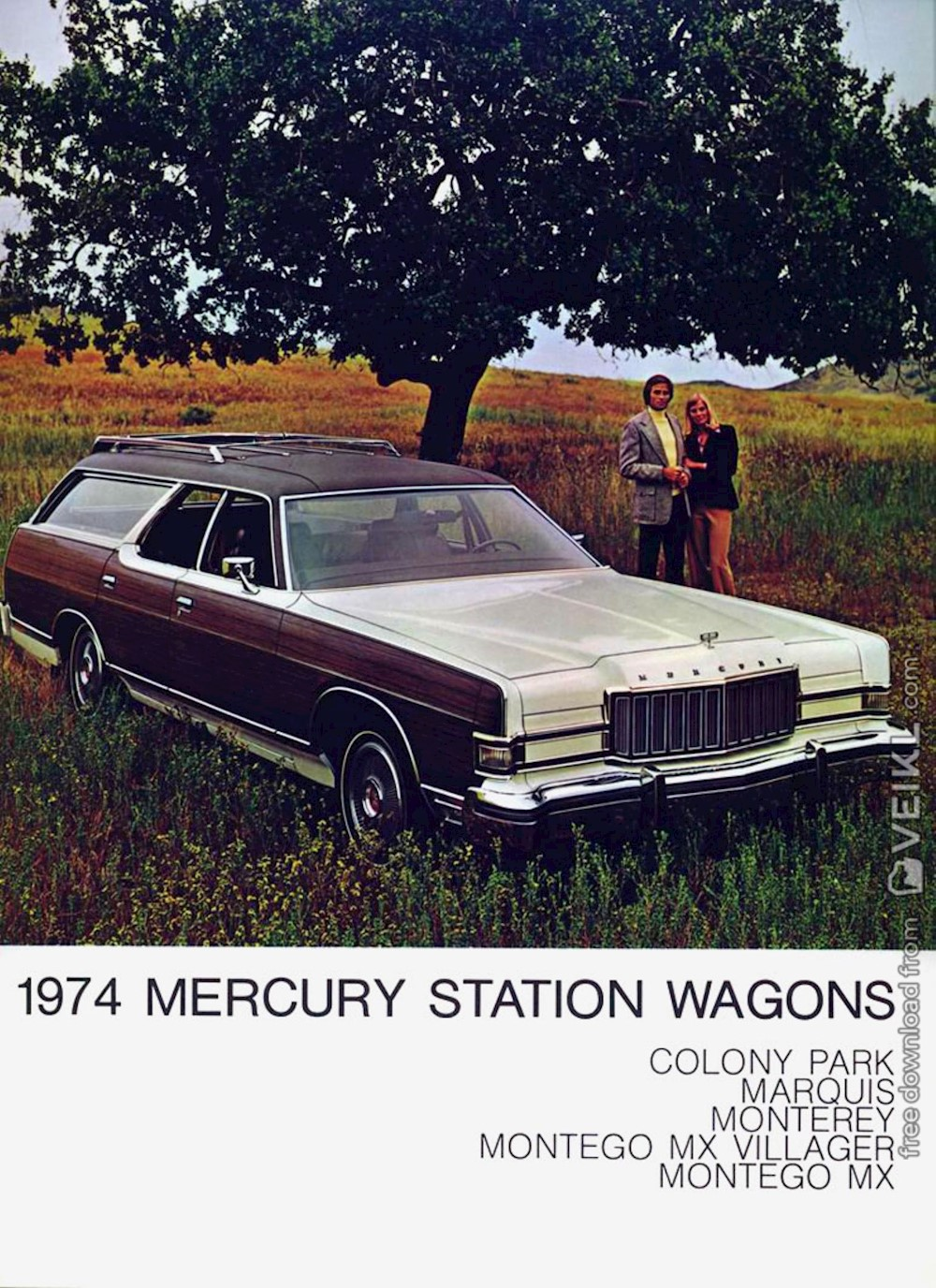 Mercury Full Range wagons Brochure 1974 EN