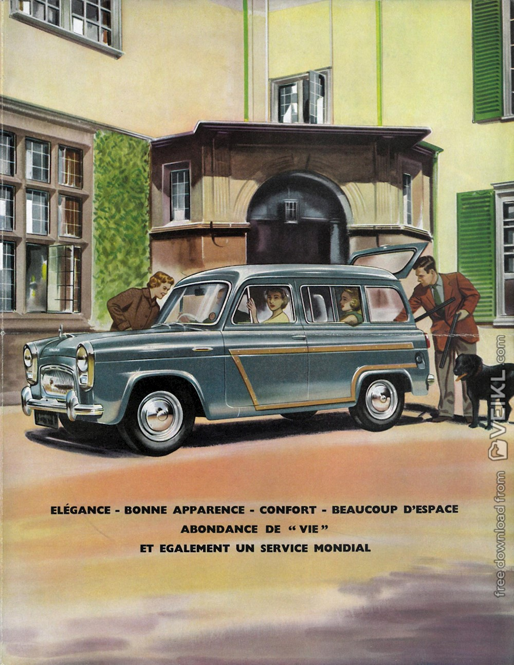 Ford Squire Brochure 1955 FR