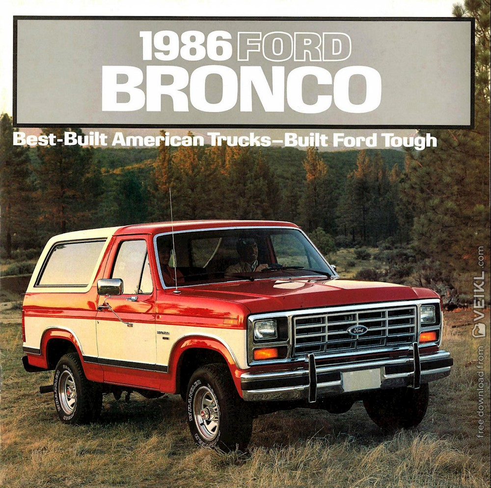 Ford Bronco Brochure 1986 EN