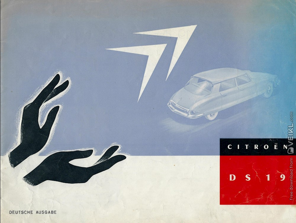 Citroen DS 19 Brochure 1956 DE