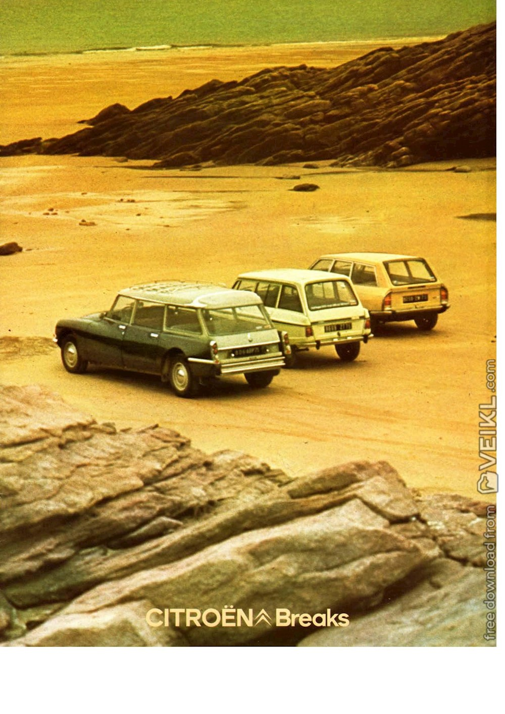 Citroen Break Ami / DS and GS Brochure 1975 FR