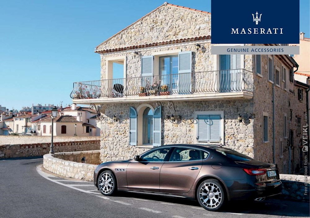 Maserati Quattroporte Accessories Brochure 2013 IT