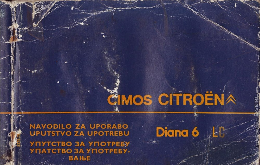 Citroen Dyane 6 (Diana 6) LC CIMOS Owner's manual 1978 HR