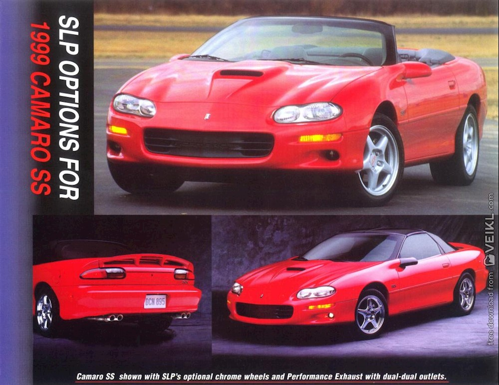 Chevrolet Camaro Accessories Brochure 1999 EN