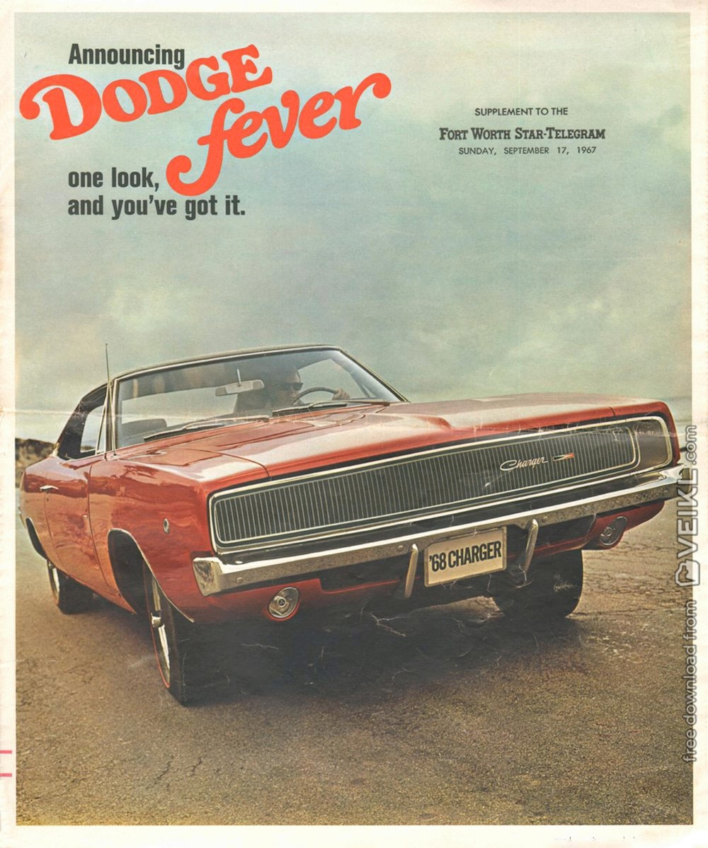 Dodge Full Line Brochure 1968 EN