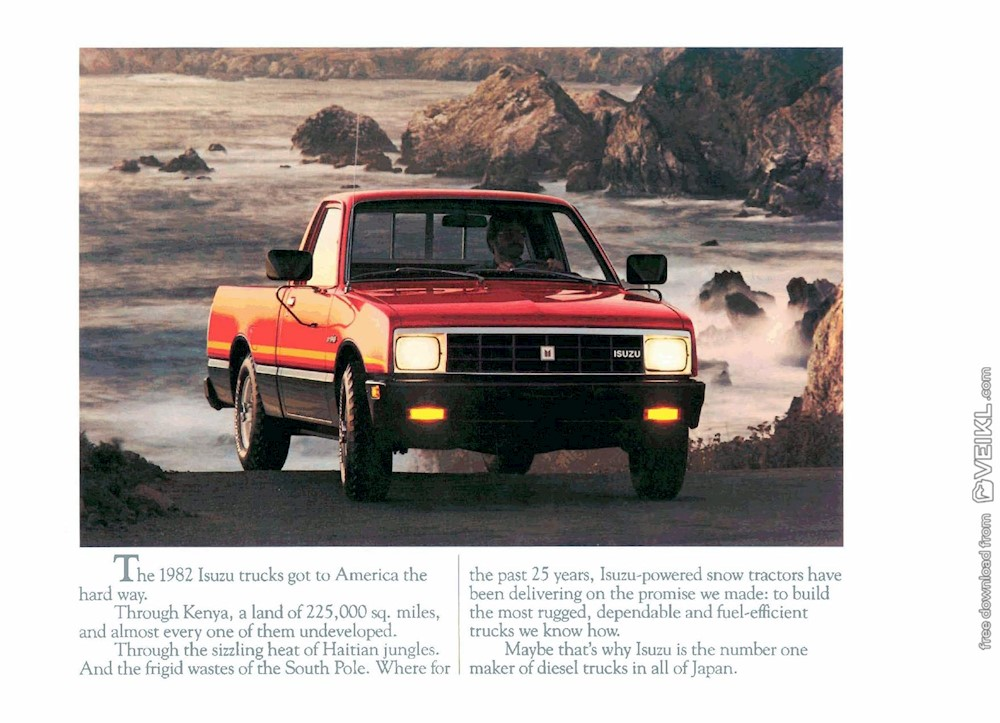Isuzu P'up Brochure USA 1982 EN
