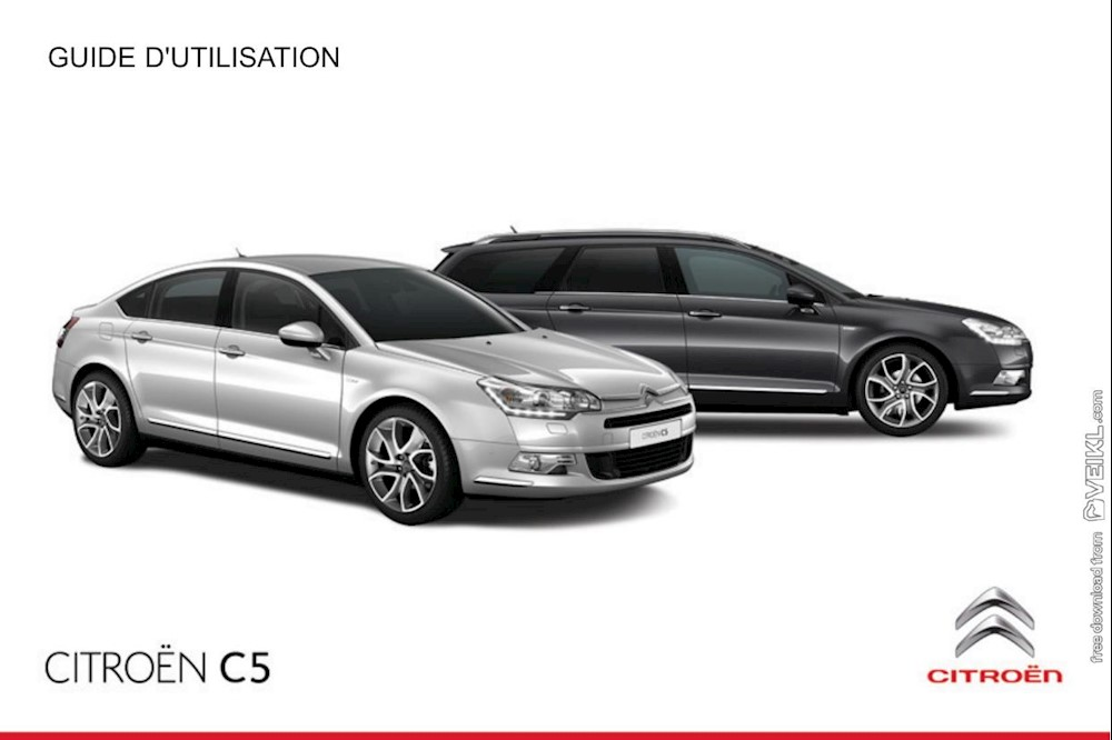 Citroen C5 Sedan and Station Wagon Owner's manual 2015 FR