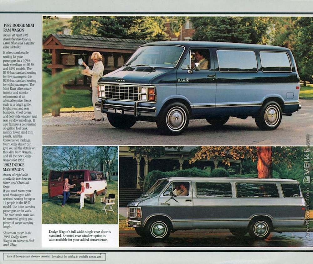 Dodge Ram Van / Wagons Brochure 1982 EN