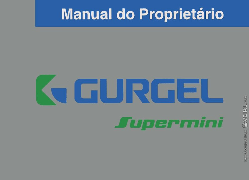 Gurgel Supermini manual do proprietario 1992 PT