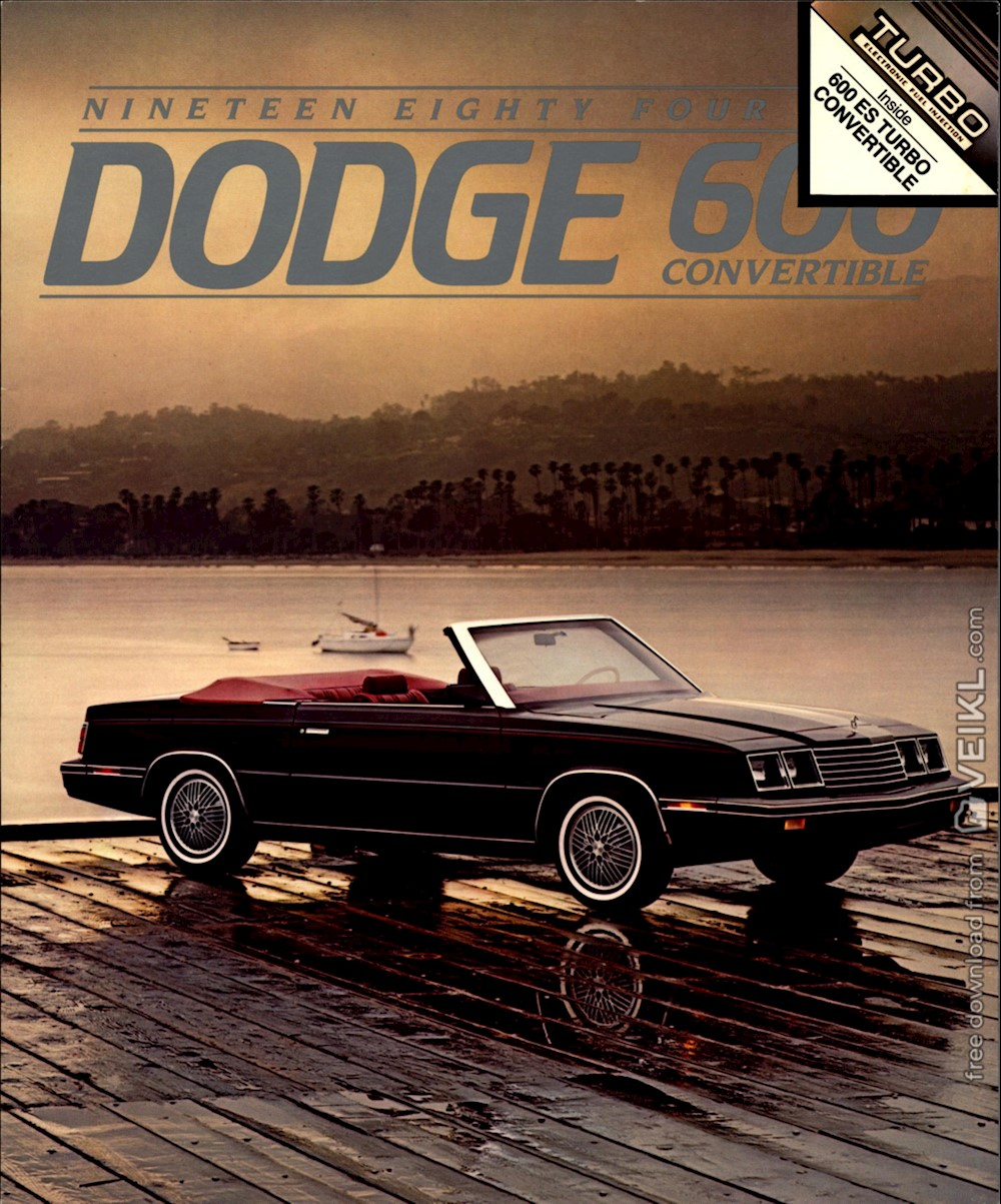 Dodge 600 Series Convertible Brochure US 1984 EN