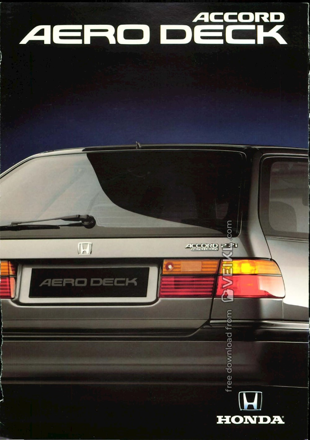 Honda Accord Aero Deck Brochure 1993 NL