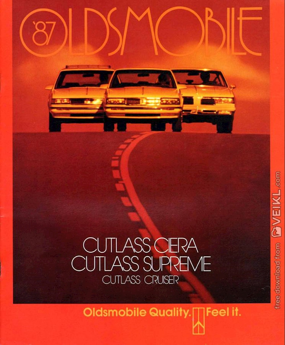 Oldsmobile Cutlass range Brochure 1987 EN