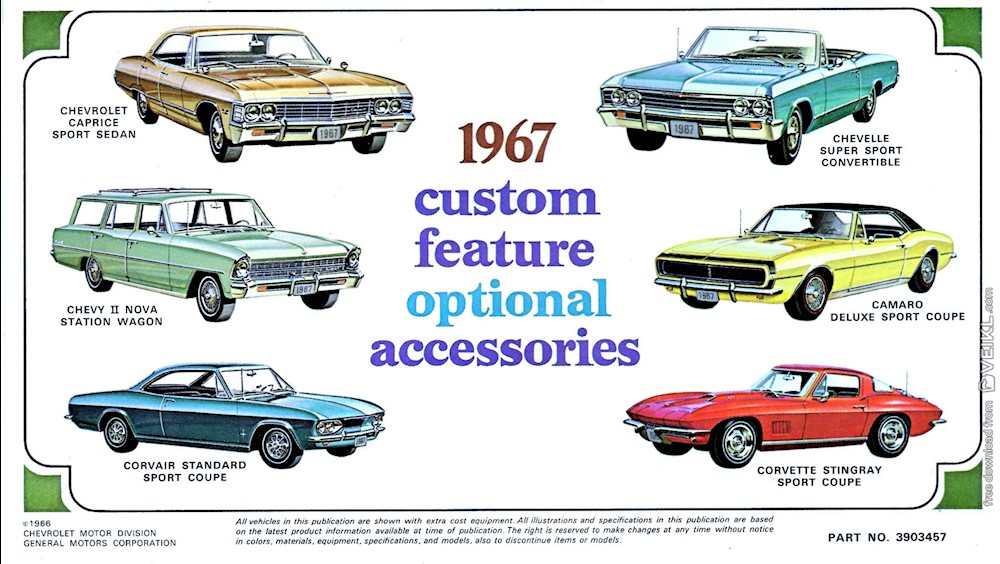 Chevrolet Full Line Accessories Brochure 1967 EN