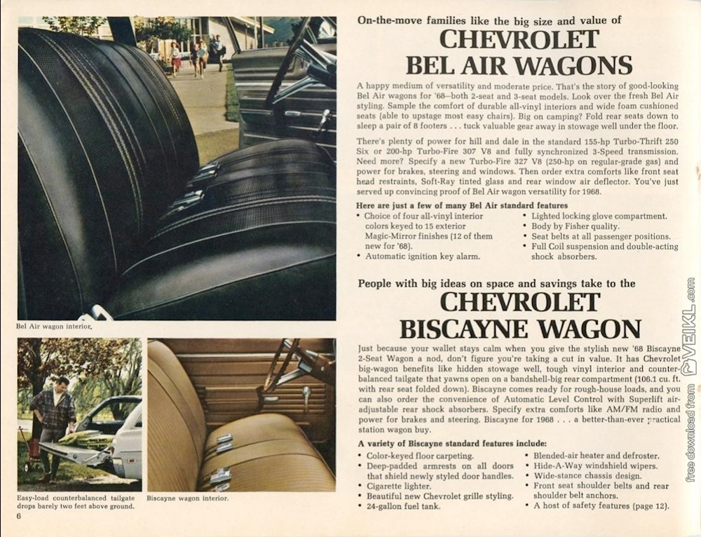 Chevrolet Wagons Brochure 1968 EN