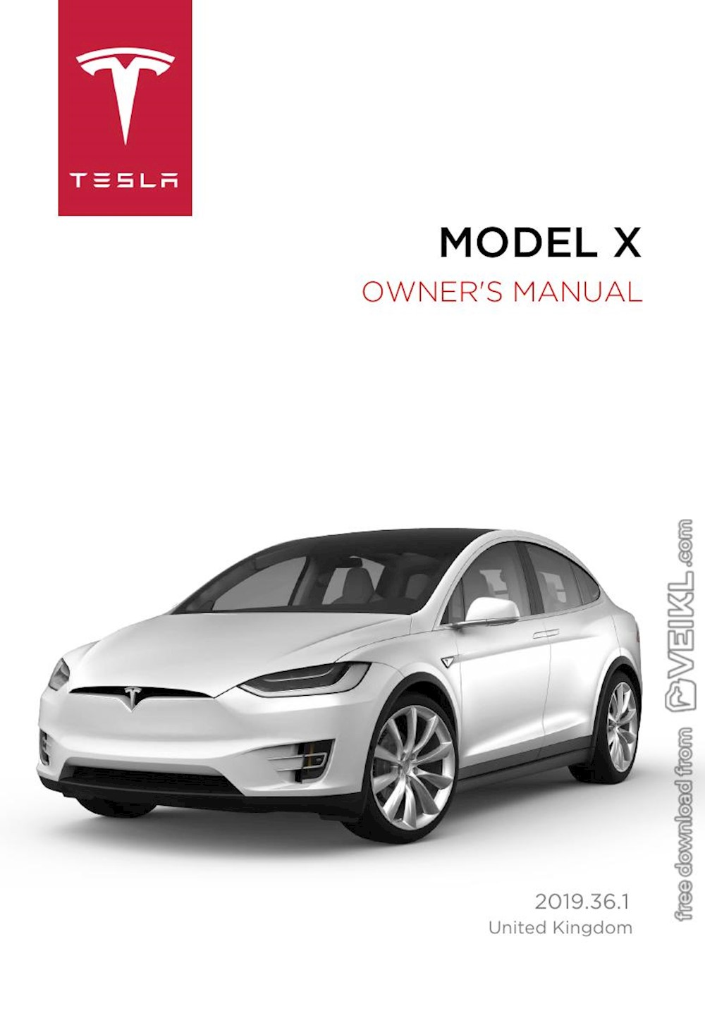 Tesla Model X Owner's manual Europe United kingdom 2019 EN
