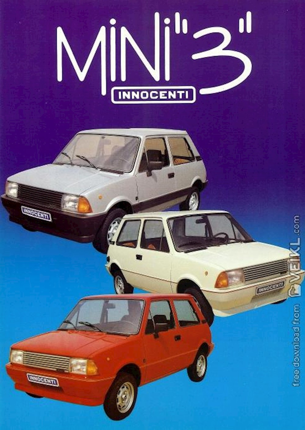 Innocenti Mini 3 Brochure 1985 FR