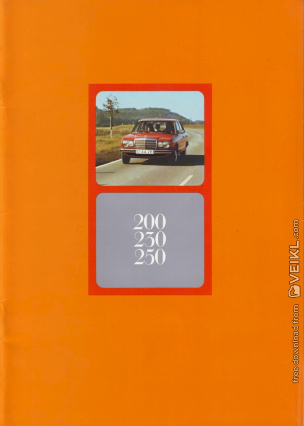 Mercedes Benz W123 200-230-250 Brochure 1976 NL
