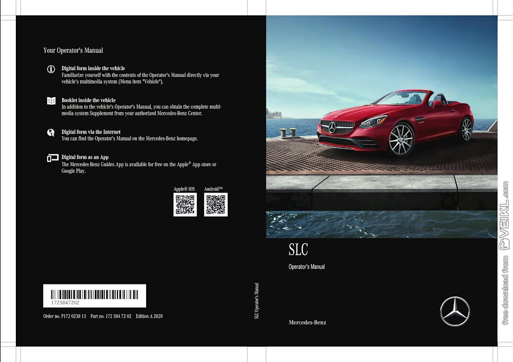 Mercedes Benz SLC Owner's manual 2020 EN