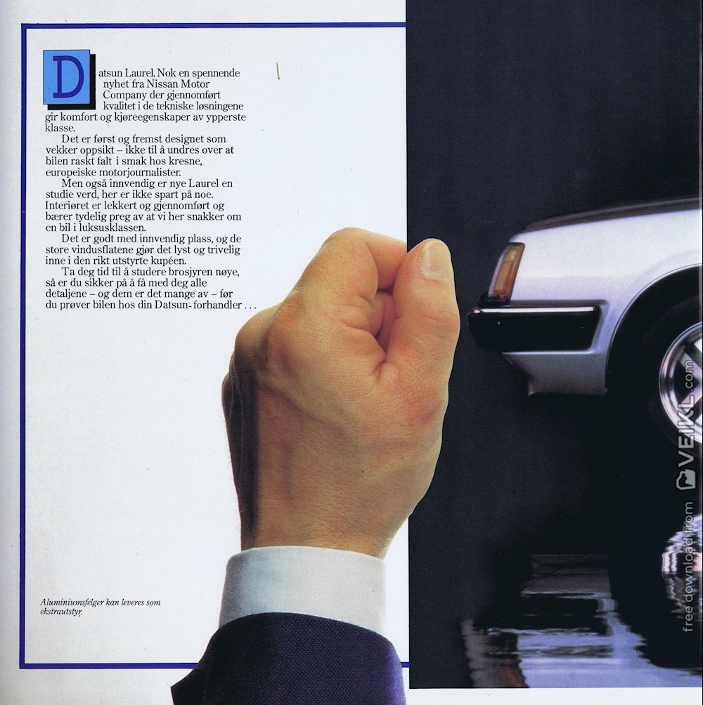 Datsun Laurel Brochure 1982 NO