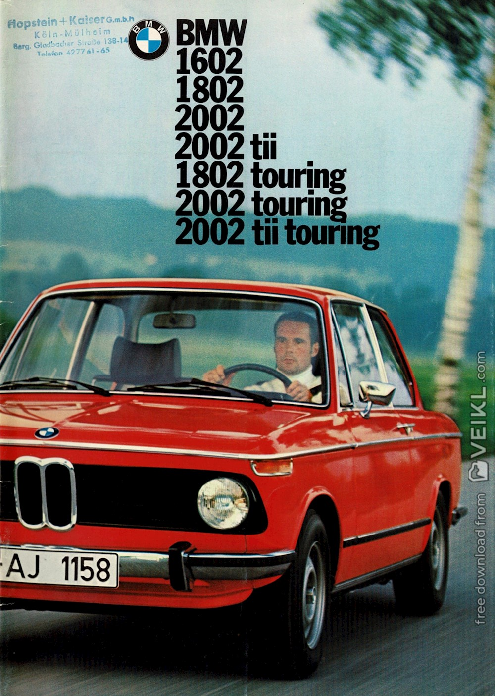 BMW 02 Series and BMW Touring Brochure 1974 DE