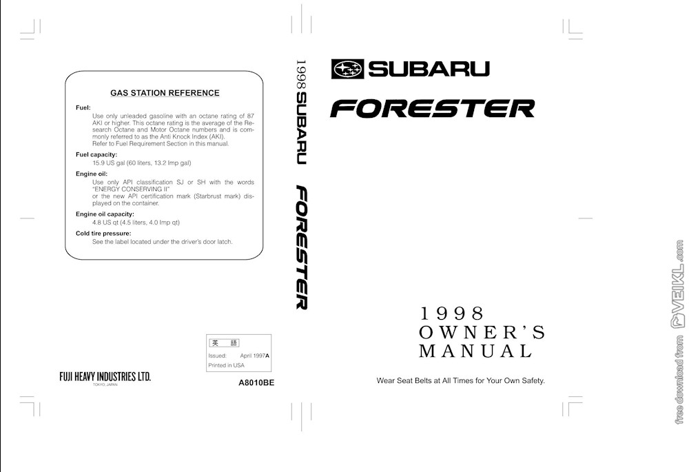 owners manual forester